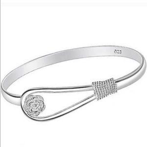 Bangle cuff bracelet SS plated